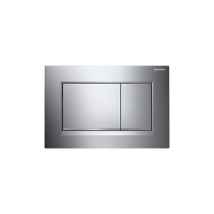 GEBERIT 115.883.KH.1 SIGMA30 DUAL-FLUSH PLATES FOR SIGMA SERIES IN-WALL TOILET SYSTEMS POLISHED CHROME WITH MATTE CHROME ACCENT