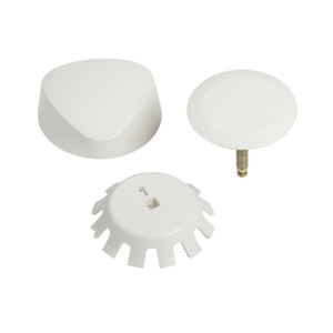 GEBERIT 151.550.FF.1 TURNCONTROL BATH WASTE AND OVERFLOW TRIM KIT MOLDED PLASTIC - BISCUIT