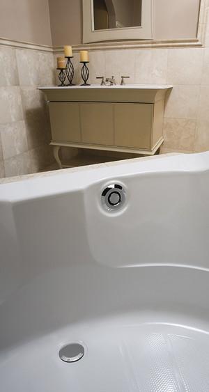 GEBERIT 151.602.21.1 PUSHCONTROL BATH WASTE AND OVERFLOW MOLDED PLASTIC - POLISHED CHROME