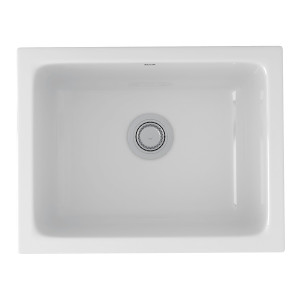 ROHL 6347-00 ALLIA FIRECLAY SINGLE BOWL UNDERMOUNT KITCHEN OR LAUNDRY SINK WHITE