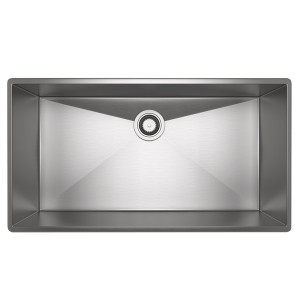ROHL RSS3318SB FORZE SINGLE BOWL STAINLESS STEEL KITCHEN SINK BRUSHED STAINLESS STEEL