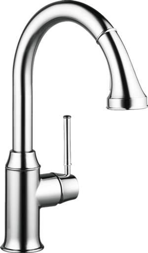 HANSGROHE 04215000 TALIS C HIGHARC KITCHEN FAUCET, 2-SPRAY PULL-DOWN, 1.75 GPM CHROME