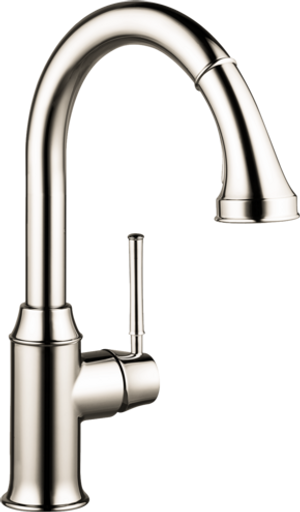 HANSGROHE 04215830 TALIS C HIGHARC KITCHEN FAUCET, 2-SPRAY PULL-DOWN, 1.75 GPM POLISHED NICKEL