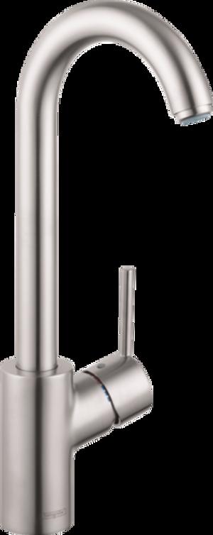 HANSGROHE 04287800 TALIS S BAR FAUCET, 1.5 GPM STEEL OPTIK