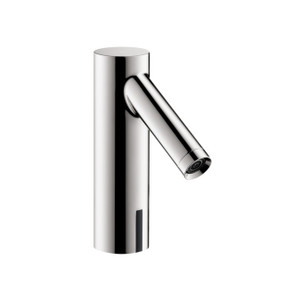 AXOR 10106001 AXOR STARCK ELECTRONIC BASIN MIXER 90 WITH TEMPERATURE PRE-ADJUSTMENT BATTERY-OPERATED CHROME