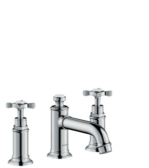 AXOR 16536001 AXOR MONTREUX WIDESPREAD FAUCET 30 WITH CROSS HANDLES AND POP-UP DRAIN, 1.2 GPM CHROME