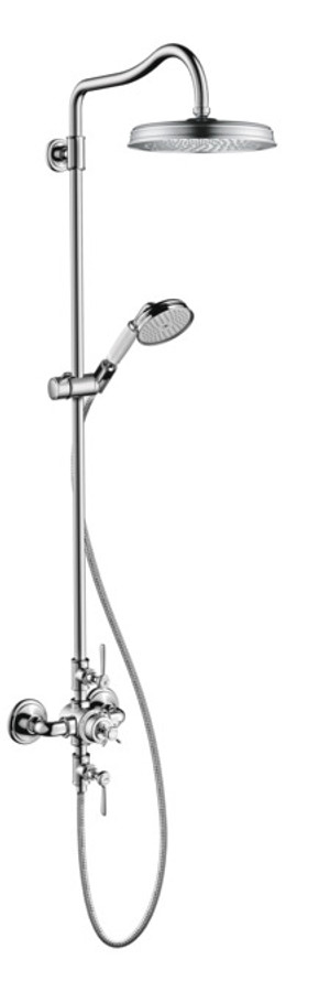 AXOR 16572001 AXOR MONTREUX SHOWERPIPE 240 1-JET, 2.0 GPM CHROME