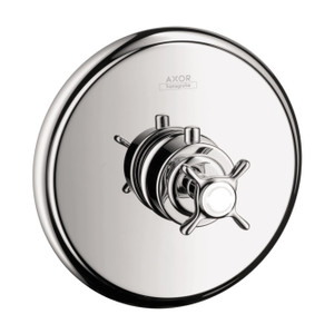 AXOR 16816001 AXOR MONTREUX THERMOSTATIC TRIM HIGHFLOW WITH CROSS HANDLE CHROME