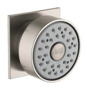 AXOR 28469821 AXOR BODY SPRAY WITH SQUARE ESCUTCHEON BRUSHED NICKEL