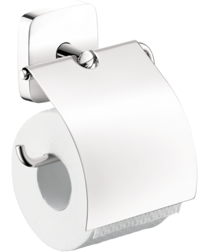 HANSGROHE 41508000 PURAVIDA TOILET PAPER HOLDER WITH COVER CHROME