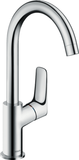 HANSGROHE 71130001 LOGIS SINGLE-HOLE FAUCET 210 WITH SWIVEL SPOUT AND POP-UP DRAIN, 1.2 GPM CHROME