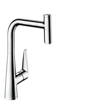 HANSGROHE 72821001 TALIS SELECT S SINGLE LEVER KITCHEN MIXER 300, PULL-OUT SPOUT, 1JET CHROME