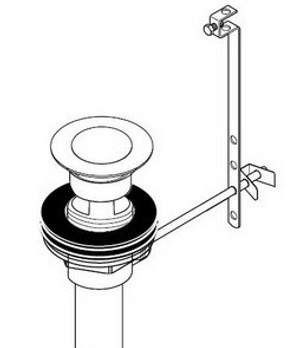 HANSGROHE 88509000 DRAIN WITH POP-UP ASSEMBLY CHROME