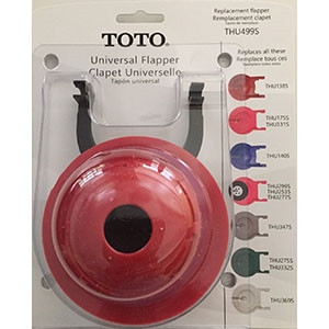TotoTHU499S 3IN UNIVERSAL TOILET FLAPPER BLISTER PACK (REPLACES THU140S, THU253S, THU331S, THU332S, THU347S)