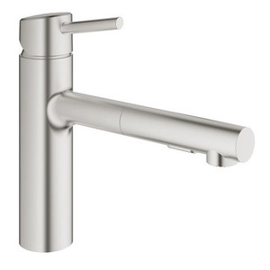 GROHE 31453DC1 CONCETTO SINGLE-HANDLE KITCHEN FAUCET SUPERSTEEL