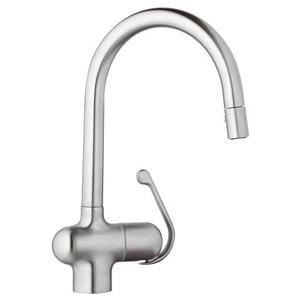GROHE 32245SD0 LADYLUX SINGLE-HANDLE KITCHEN FAUCET REALSTEEL