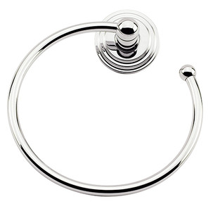 GINGER 1121/PB CHELSEA TOWEL RING - OPEN POLISHED BRASS (SHOWN IN POLISHED CHROME)