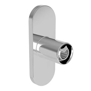 GINGER 639CB/10B EMPIRE CURVED SHOWER ROD BRACKETS OIL RUBBED BRONZE (SHOWN IN POLISHED CHROME)