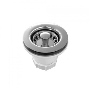 JACLO 2802-PN JUNIOR DUO SINK STRAINER WITH ABS BODY POLISHED NICKEL