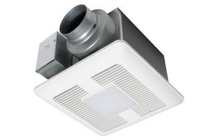 PANASONIC FV-0511VQL1 WHISPERCEILING DC FAN|LIGHT, 50-80-110 CFM