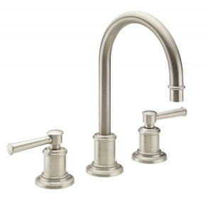 "CALIFORNIA FAUCETS 4802-SN MIRAMAR 8"" WIDESPREAD LAVATORY FAUCET SATIN NICKEL"