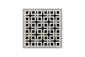 "INFINITY DRAIN KS 4 PS 4 "" X 4"" DECORATIVE PLATE FOR K 4, KD 4, KDB 4 IN POLISHED STAINLESS"