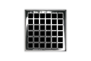 INFINITY DRAIN QD 4-2P PS SQUARES QD 4-2: 4X4 STANDARD KIT POLISHED STAINLESS