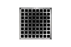 INFINITY DRAIN QD 5-2P PS SQUARES QD 5-2: 5X5 STANDARD KIT POLISHED STAINLESS