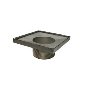 """INFINITY DRAIN T 42-PS 4X4 - 2"""" THROAT POLISHED STAINLESS"""