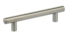OMNIA 9465/96.32D MODERN CABINET PULL 3-3/4'' CENTER TO CENTER SATIN STAINLESS STEEL
