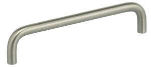 OMNIA 9537/128.32D MODERN CABINET PULL 5'' CENTER TO CENTER SATIN STAINLESS STEEL