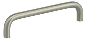 OMNIA 9538/128.32D MODERN CABINET PULL 5'' CENTER TO CENTER SATIN STAINLESS STEEL