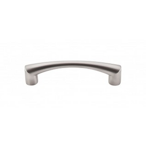 "TOP KNOBS M1128 HIDRA PULL 3 3/4"" CENTER TO CENTER BRUSHED SATIN NICKEL"
