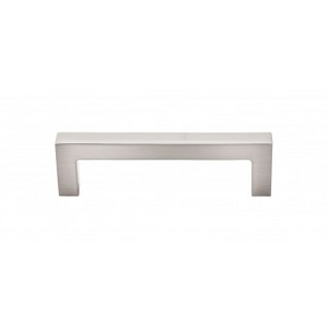"TOP KNOBS M1161 SQUARE BAR PULL 3 3/4"" CENTER TO CENTER BRUSHED SATIN NICKEL"