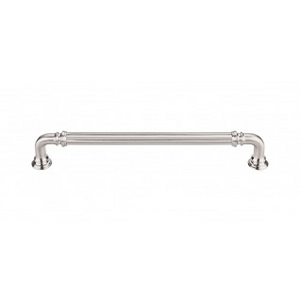 """TOP KNOBS TK324BSN REEDED PULL 7"""" CENTER TO CENTER BRUSHED SATIN NICKEL"""