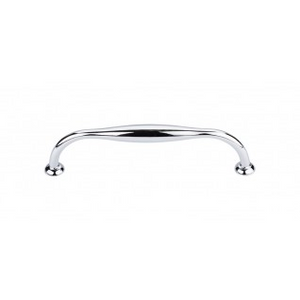 """TOP KNOBS TK384PC SHREWSBURY D-PULL 5 1/16"""" CENTER TO CENTER POLISHED CHROME"""