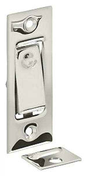 DELTANA PDB42U14 POCKET DOOR BOLT, JAMB BOLT POLISHED NICKEL