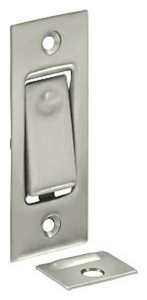 DELTANA PDB42U15 POCKET DOOR BOLT, JAMB BOLT BRUSHED NICKEL