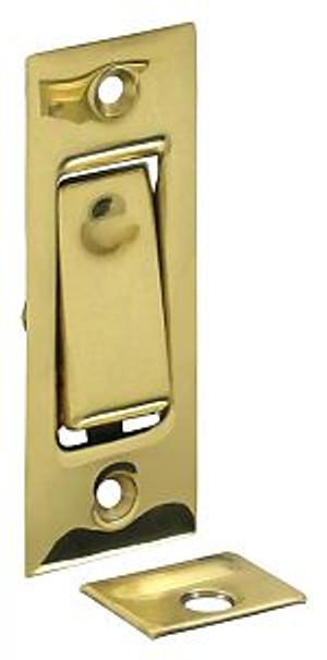 DELTANA PDB42U3 POCKET DOOR BOLT, JAMB BOLT POLISHED BRASS