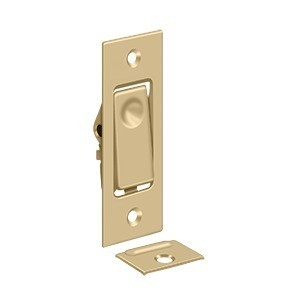 DELTANA PDB42U4 POCKET DOOR BOLT, JAMB BOLT BRUSHED BRASS