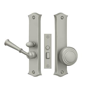 DELTANA SDL688U15 STORM DOOR LATCH, CLASSIC, MORTISE LOCK BRUSHED NICKEL