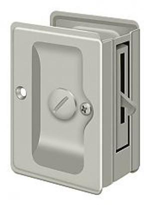 """DELTANA SDLA325U15 HD POCKET LOCK, ADJUSTABLE, 3 1/4""""X 2 1/4"""" PRIVACY BRUSHED NICKEL"""