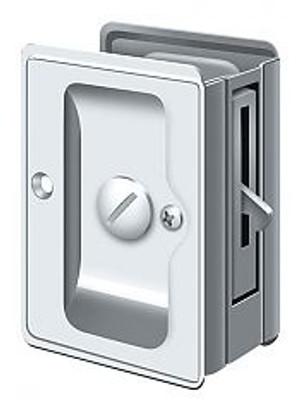 "DELTANA SDLA325U26 HD POCKET LOCK, ADJUSTABLE, 3 1/4""X 2 1/4"" PRIVACY POLISHED CHROME"