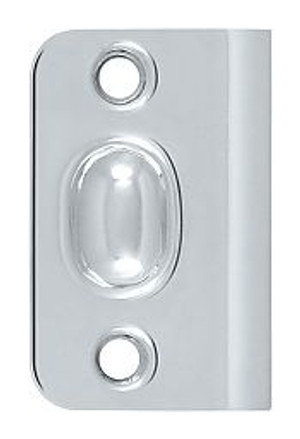 DELTANA SPB349U26 STRIKE PLATE FOR BALL CATCH AND ROLLER CATCH POLISHED CHROME