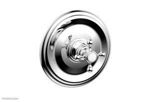 "Phylrich 4-097/026 HEX TRADITIONAL 1/2"" MINI THERMOSTATIC SHOWER TRIM POLISHED CHROME"