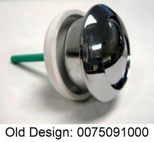 Duravit 0075091000 Top Mount Single Flush Push Button, Chrome
