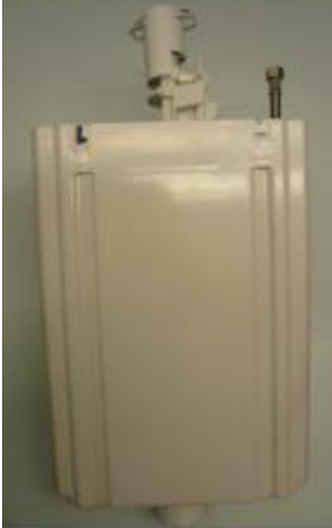 Duravit 0074173800 Complete Plastic Tank without push button.  Goes with Duravit Toilet Model #'s:  ?022509, 023309, 087250, and 872700