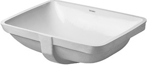Duravit 0305490000 Starck 3  Undercounter Basin, With Overflow, Without Tap Platform, Fixings Included, 19 1/4""