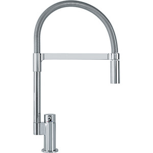 Franke FF2900 Manhattan Kitchen Faucet Pull Down Dual Spray Feature Stream And Spray Polished Chrome