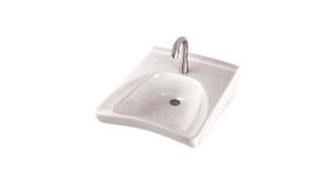 "Toto LT308#01 Commercial Wheelchair User's Lavatory. 20-1/2"" X 27"" Wall-mount. Single Hole Faucet Mount Cotton"